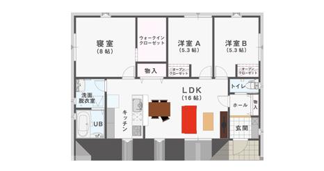 3LDK 24坪